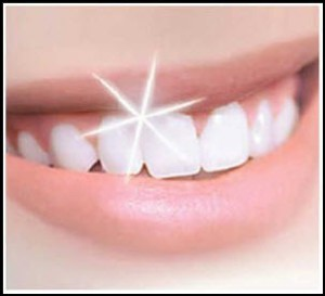 bright white teeth